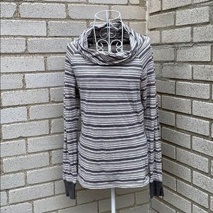 Toad & Co Striped Cowl Neck Top